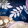 Boite à dragées bleu marine mot par 10