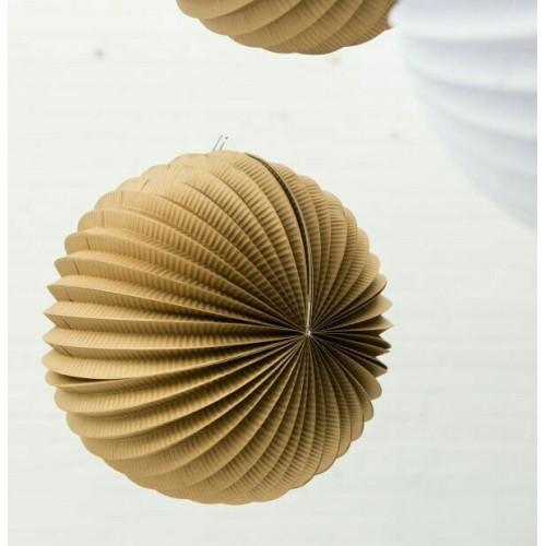 Lampion accordéon doré 30 cm