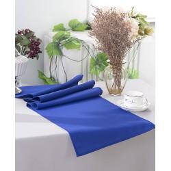 Chemin de table polyester bleu roi