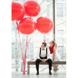 Ballon géant bordeaux 250 cm