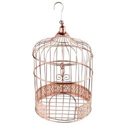Cage à oiseaux rose gold