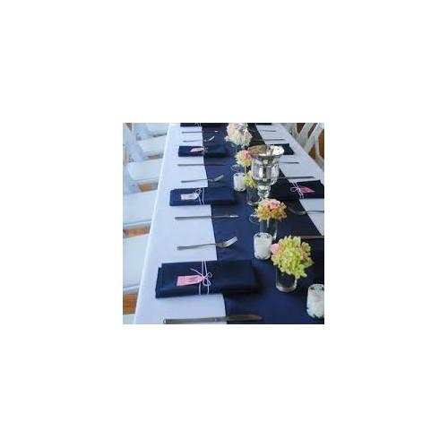 Chemin de table polyester bleu marine