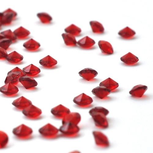 Diamants rouge rubis x 100
