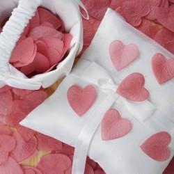 Pétales coeur rose blush par 100