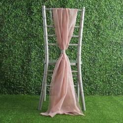 Drapé de chaise en mousseline blush