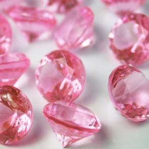 Diamants rose pale 2 cm par 48
