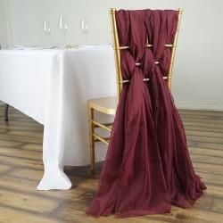 Drapé de chaise en mousseline poudré