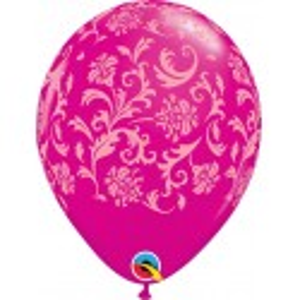 Ballon baroque fuchsia par 5