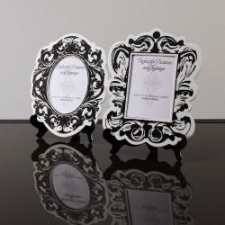 Cadre baroque noir et blanc par 2