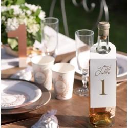 Marque table bouteille par 10