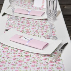 Chemin de table mariage liberty