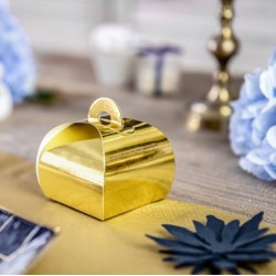 Boite à dragées mirror gold par 10