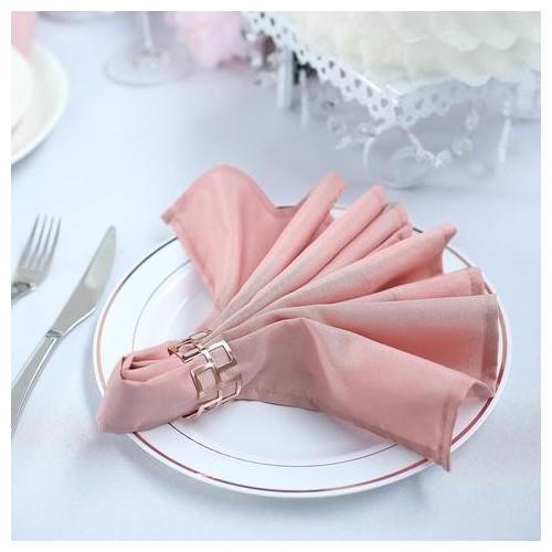 Serviette de table rose poudré par 5