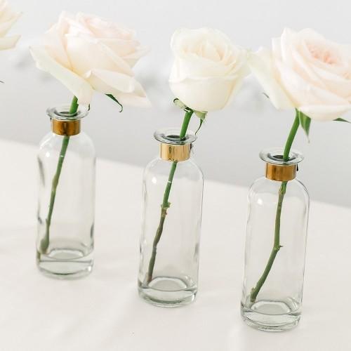 Vase bouteille doré
