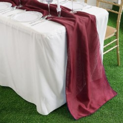 Chemin de table mousseline bordeaux