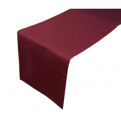 Chemin de table polyester bordeaux