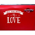 Autocollant All you need is love