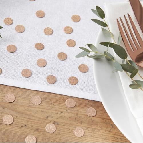 Confettis de table cuivrés