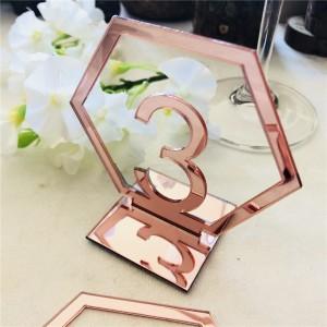 Numéro de table rose gold par 10
