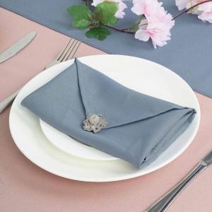 Serviette de table bleu orage par 5