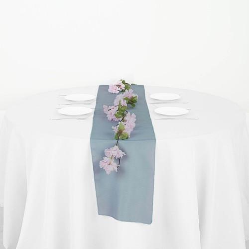 Chemin de table polyester dusty blue