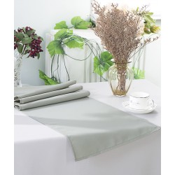 Chemin de table polyester gris perle