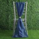 Drapé de chaise en mousseline bleu marine