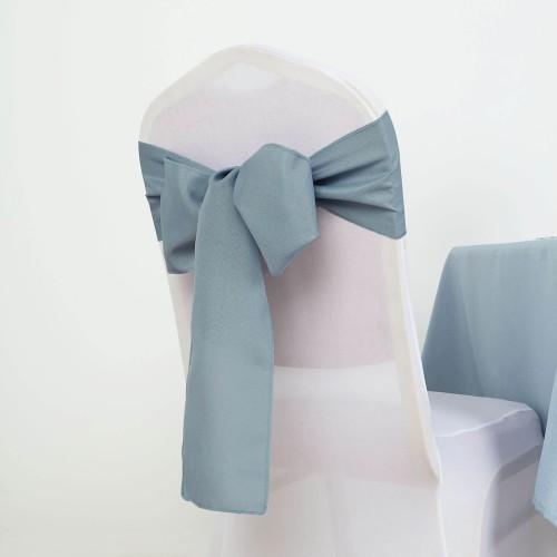 Noeud de chaise polyester bleu orage