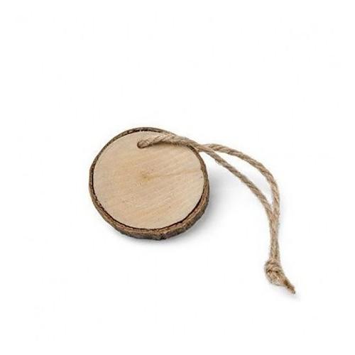 Marque place rondin de bois par 4