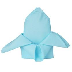 Serviette de table bleu ciel par 5