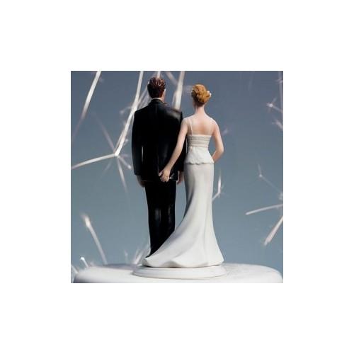Figurine mariés à moto