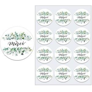 Sticker végétal merci par 10