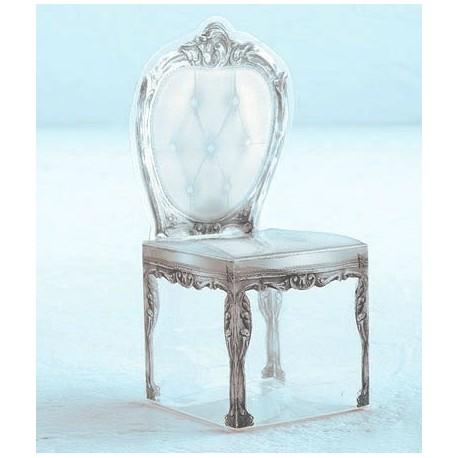 Contenant à dragées chaise baroque
