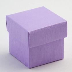 Boite à dragées carrée lilas ou violet par 10