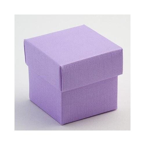 Boite à dragées carrée lilas ou violet