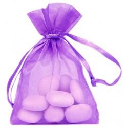 Sachet à dragées organdi parme/violet par 10