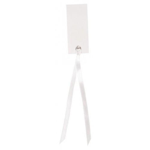 Marque place rectangulaire blanc avec ruban