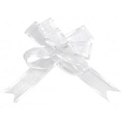 Mini noeud organdi automatique blanc