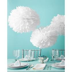 Pompon en papier blanc