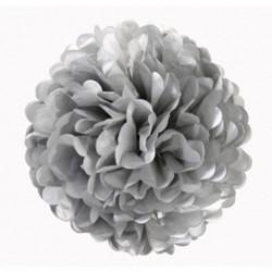 Pompon en papier gris