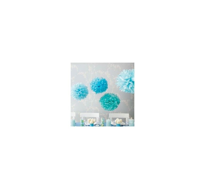 pompon en papier turquoise les couleurs du mariage mariage et r ception. Black Bedroom Furniture Sets. Home Design Ideas
