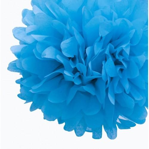 Pompon en papier turquoise