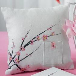 Coussin à alliances fleurs de cerisier
