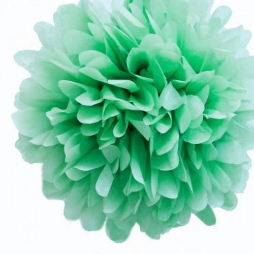 pompon en papier menthe l 39 eau les couleurs du mariage mariage et r ception. Black Bedroom Furniture Sets. Home Design Ideas