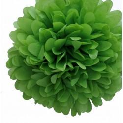 Pompon en papier vert