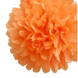 Pompon en papier orange