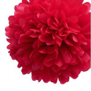 Pompon en papier rouge