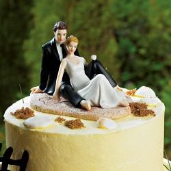 Figurine de mariage la plage