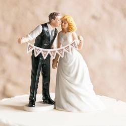 Figurine de mariage shabby chic