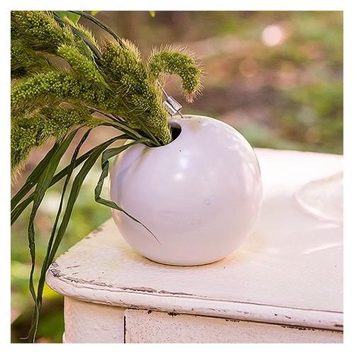 Vase boule à suspendre
